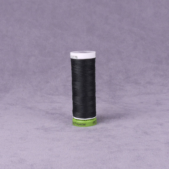 Black Gutermann Recycled Polyester Thread