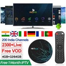 IPTV Italia HK1 Plus 1 mes IPTV India turco Pakistán IPTV suscripción Android 8,1 Smart Tv Box Alemania árabe italiano IP TV