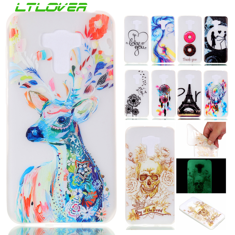 Hot Sale Luminous Cartoon silicone Soft TPU Phone Protector Case For Asus Zenfone 3 Max ZC553KL Back Cover Cases Coque in stock