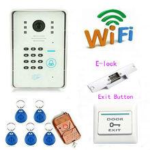 free DHL WiFi Doorbell with Camera HD IR Monitor Alarm Intelligent Video Intercom Door Bell APP Control for Smartphone Tablet