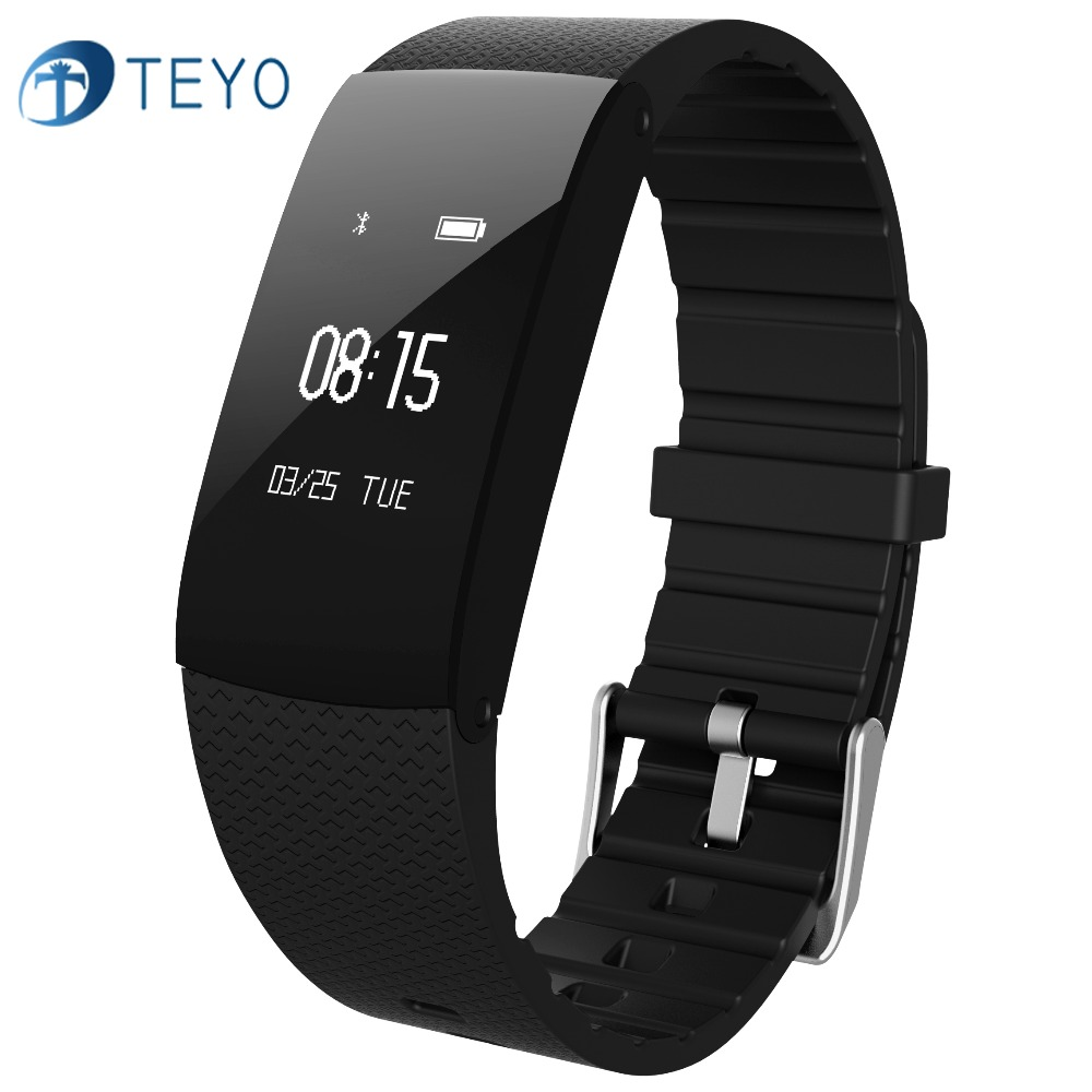 Teyo New Smartband A89 Blood Pressure Waterproof Heart Rate Monitor Passometer Call Remider Intelligent Bracelet for