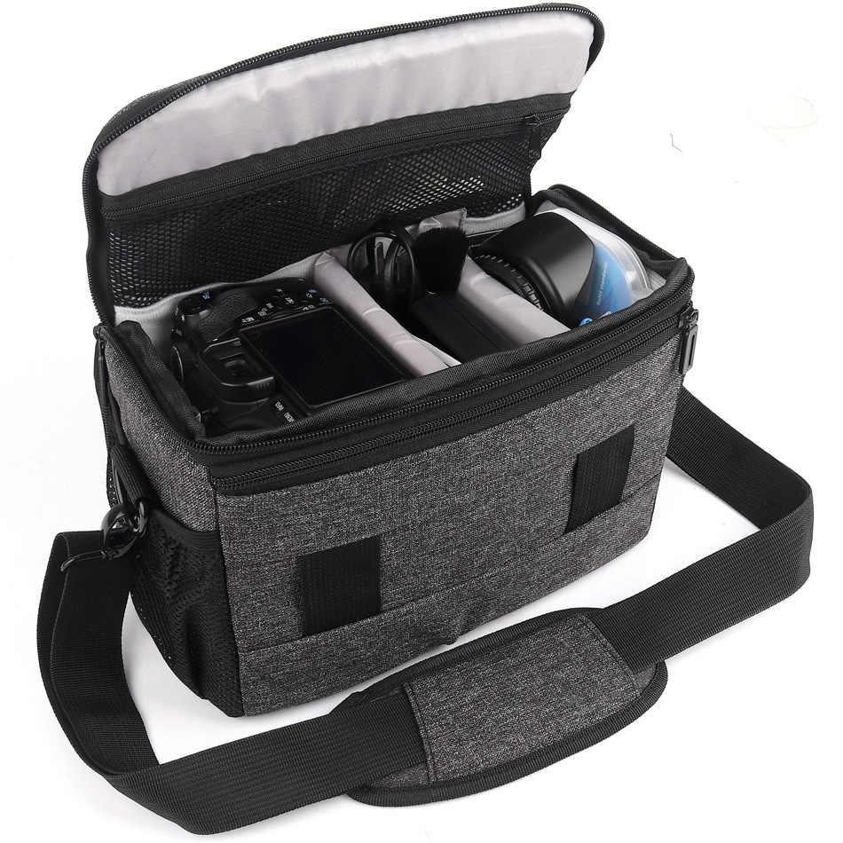 مقاوم للماء كاميرا فوتوغرافية حقيبة حقيبة dslr الحال بالنسبة لكانون EOS 5D مارك IV II III 800D 200D 6D مارك II 77D 60D 70D 700D 760D 750D 1300D