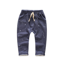 kids pants trousers boys pants girls baby harem pants kids pantalon fille nino garcon elastic waist cotton 2-7 yrs 2016 autumn