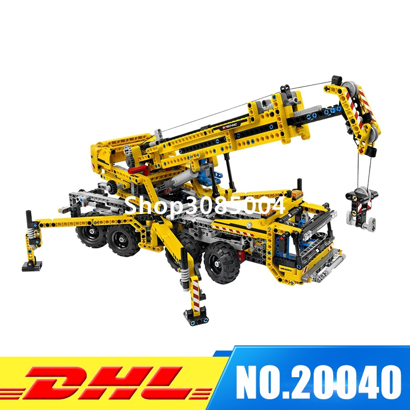 IN STOCK Lepin 20040 1392Pcs Technic Mechanical Series The Moving Crane Set Educational Building Blocks Bricks Toys Model Gift in stock lepin 23015 485pcs science and technology education toys educational building blocks set classic pegasus toys gifts