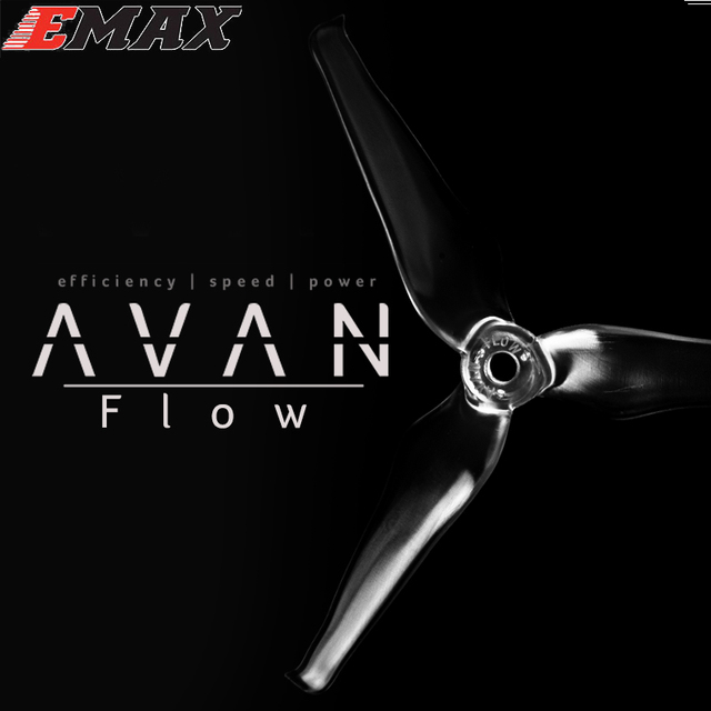 20pcs EMAX AVAN Flow 5x4.3x3mm 5 Inch 3 Blades Propeller Props 5CW 5CCW For RC Drone (10 pair)