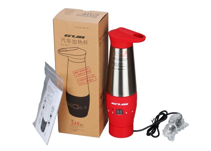 GUB ZN20 voiture chauffage tasse double en acier inoxydable tasse et mulfuntional chaude tasse/tasse de voiture en verre brûlant dans Bicycle Water Bottle de Sports et loisirs