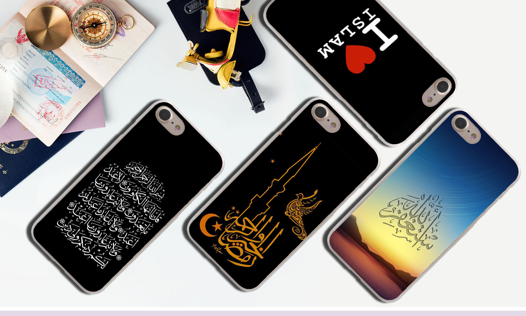 Lavaza I love Muslim Islamic Gril Eyes Text Hard Phone Case for iPhone XR X 11 Pro XS Max 7 8 6 6S 5 5S SE 4S 4 10 Cover