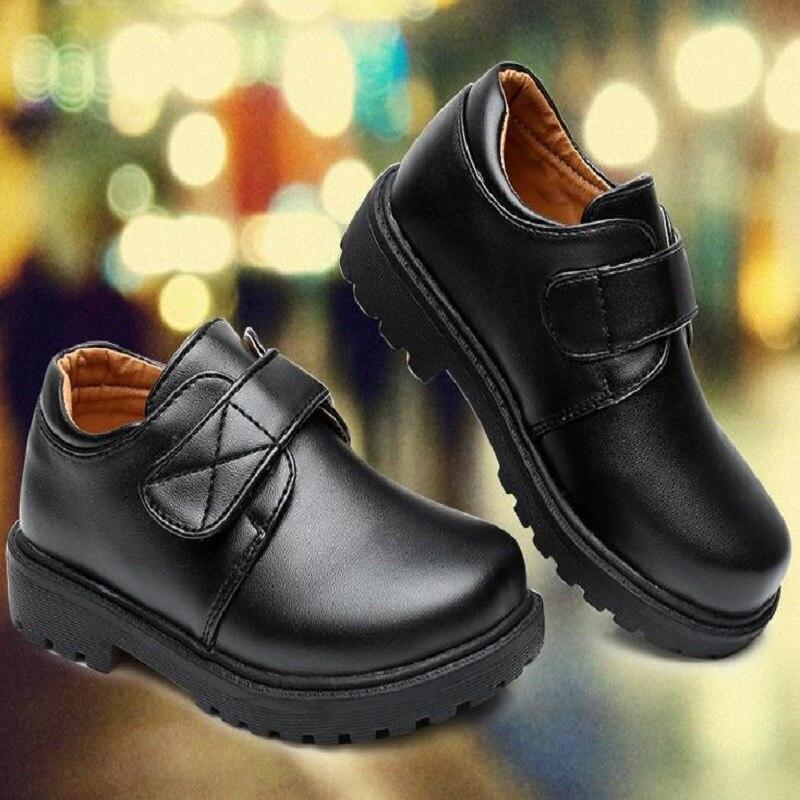2018 новые для мальчиков и девочек из искусственной кожи модная обувь для молодых студентов детские кожаные туфли T562846 повседневная обувь раз...
