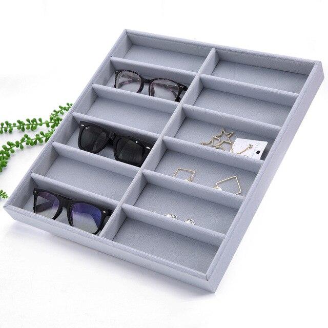 811bfd965 Caso Caixa de óculos de Sol Óculos de Exibição Organizador cheques 12  Coletor De Óculos Caixa
