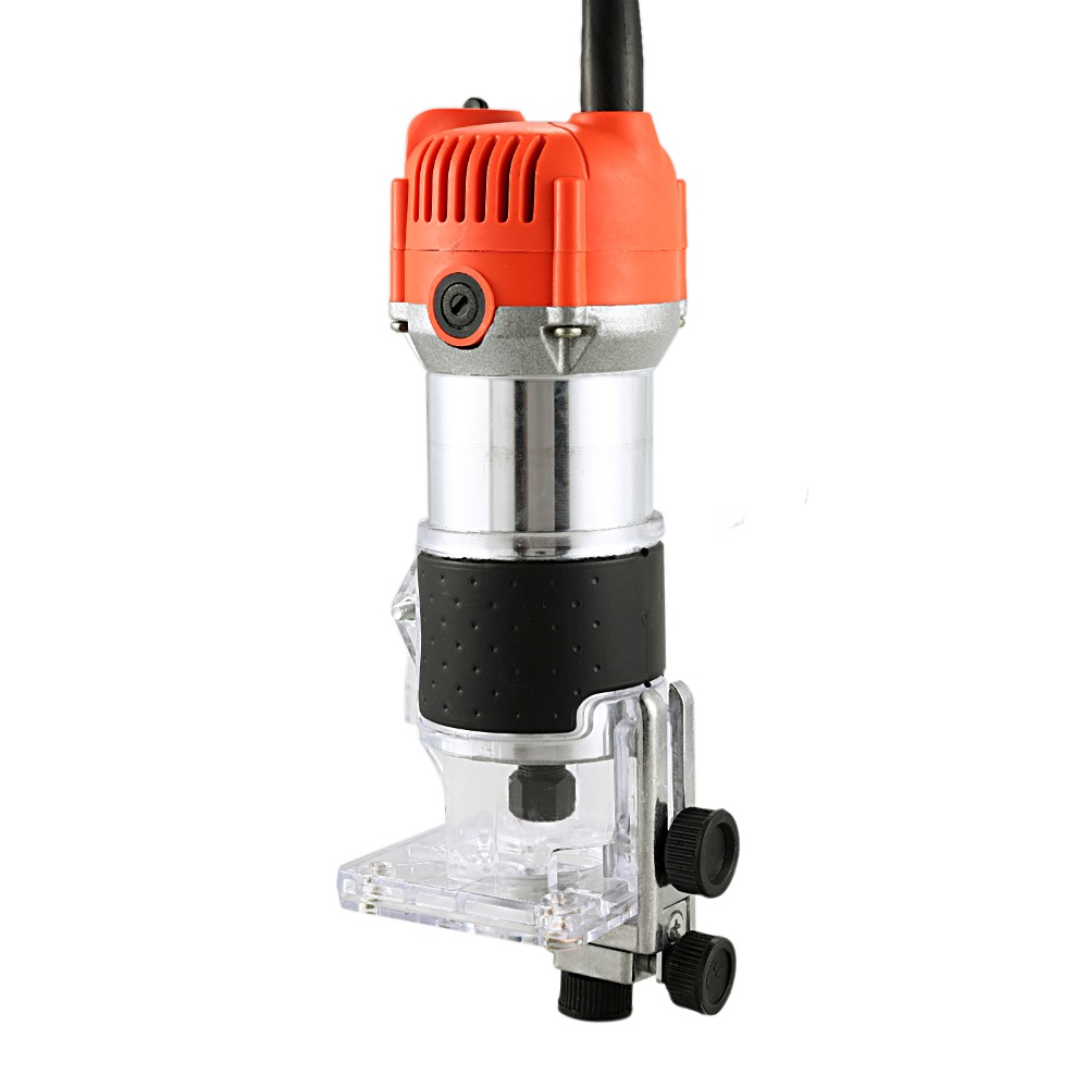 New Router Trimmer 350W/600W 30000rpm Durable Small Copper Motor Carving Machine 6.35mm Electric Woodworking Trimmer Power Tool