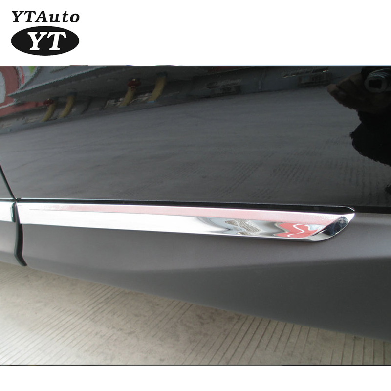 Stainless Steel Chrome Body Trim Strips Door Side Moulding Trim For Forester 2013 2014 Exterior