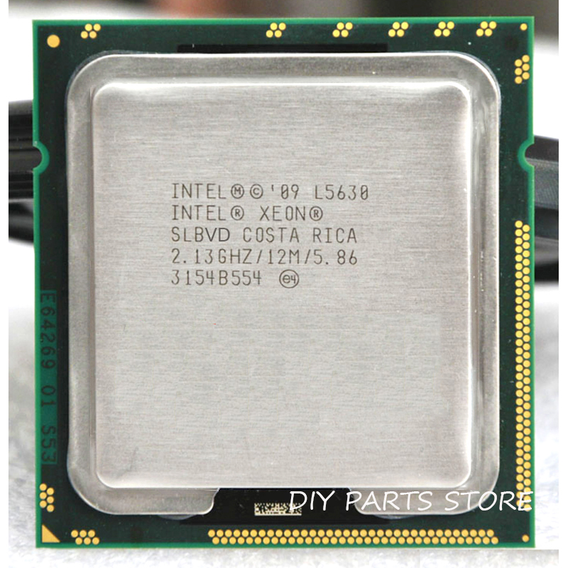 Intel xone l5630 processador cpu intel l5630 4 núcleo 2.13 mhz level2 12 m trabalho para lga 1366 montherboard