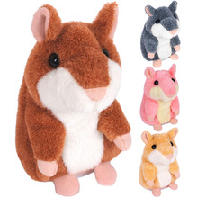The original Russian talking hamster talking animal talking toys-Yellow color,in stock delivery within 24 hours Hot!