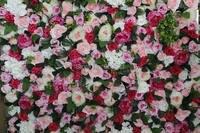 SPR Darmowa Wysyłka 10 sztuk/partia czerwony różowy Sztuczny jedwab kwiat róży piwonia ślub tło ścienne rynku plandecoration zdarzeń