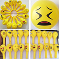 10 PCS 12 Emoji Latex Balloons Hot Expression Ballon Wedding Birthday Party Supplies Smile Latex Smile Balls