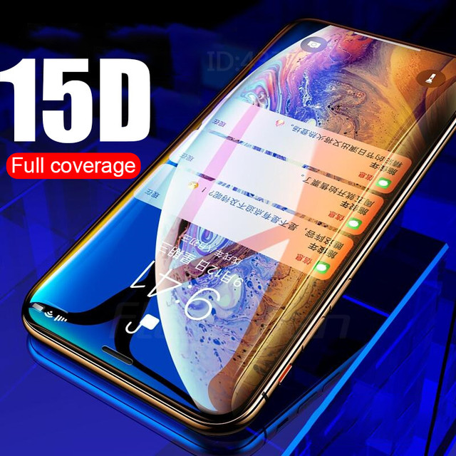 15D Curved Edge Protective Glass on the For iPhone 6 6S 7 8 Plus Tempered Screen Protector For iPhone 6 7 8 6S Plus Glass Film