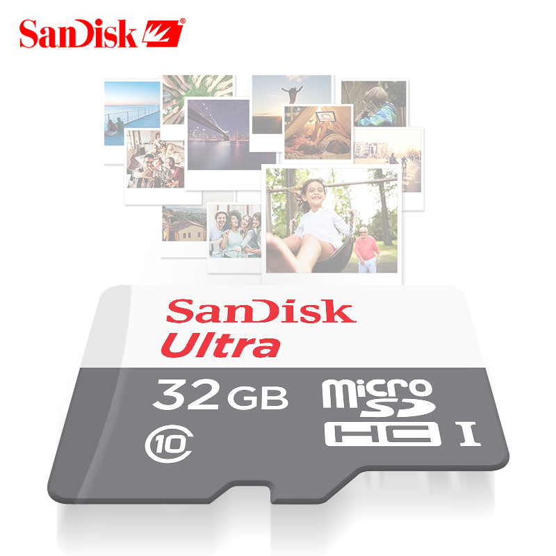 100% SanDisk ULTRA microSD UHS-I CARD Up to 48MB/s read speed video speed Memory Card SDHC C10 Micro 32GB TF Card