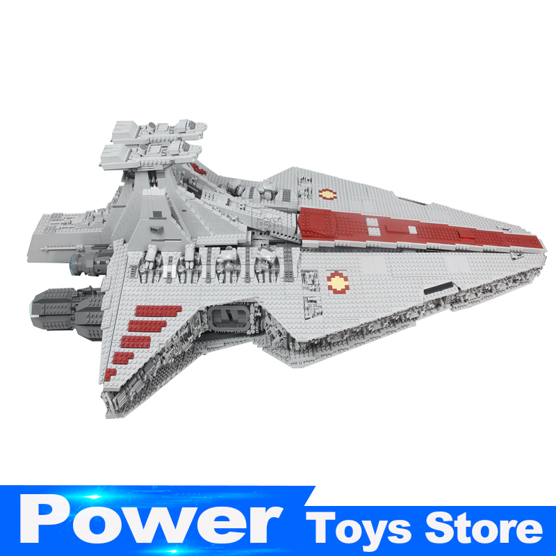 Lepin 05077 6125Pcs New Series The UCS Rupblic Set Star Destroyer model Cruiser ST04 Building Blocks Bricks Toys for kids gifts lepin 05077 star series wars the ucs rupblic set destroyer model legoing cruiser st04 building blocks bricks toys for child gift