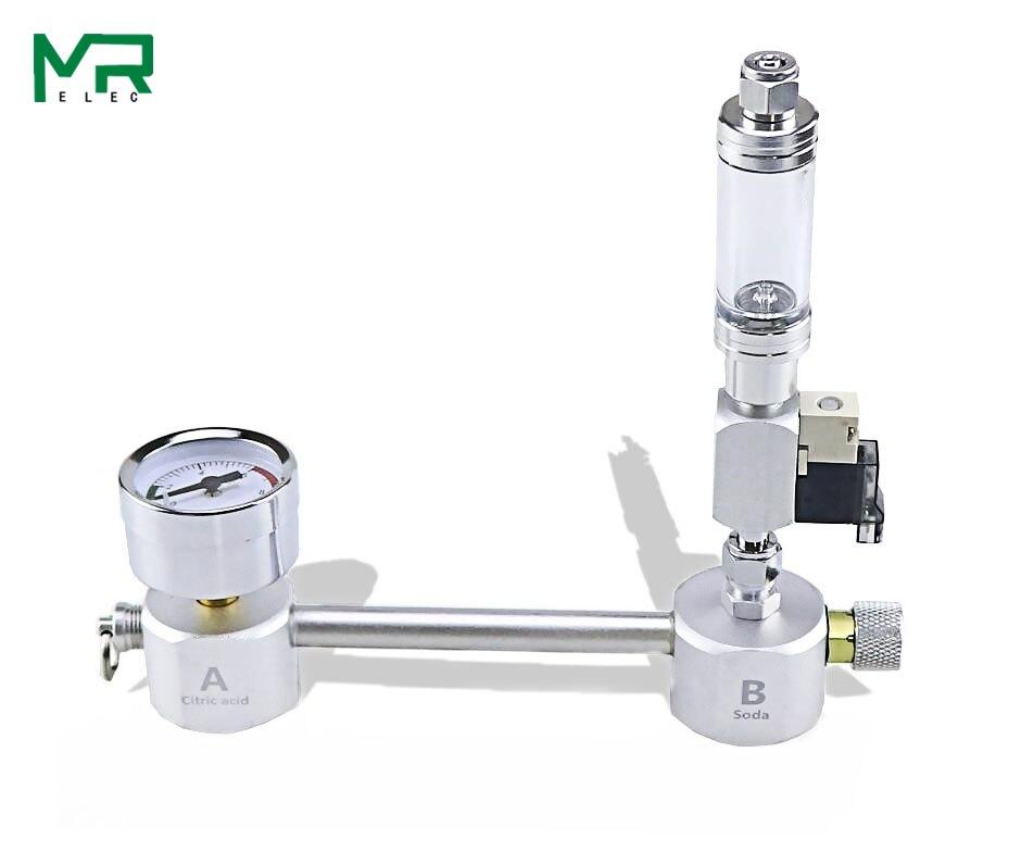 Aquarium DIY CO2 Generator System Kit With Pressure Air Flow Adjustment Water Plant Fish AquariumCo2Valve Diffuser