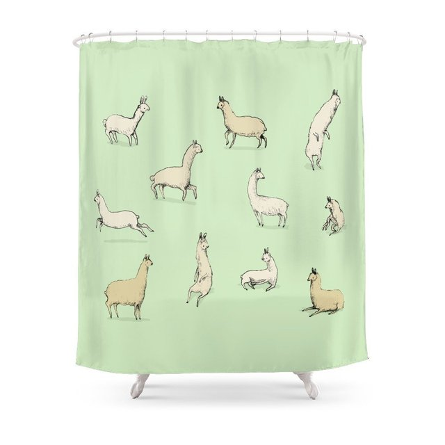 Llamas Shower Curtain In Curtains From Home Garden On