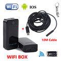 Frete grátis! 10 M Endoscópio USB Câmera De Inspeção À Prova D' Água LED + CAIXA DE WI-FI Para IOS E Android