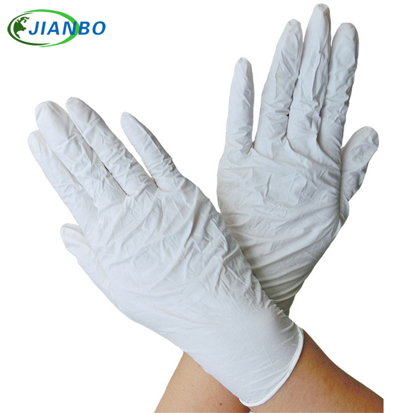 100Pcs Disposable White Nitrile Gloves Laboratory Latex Working Gloves For Kitchen Medical Dentistry Oil-proof Acid Resistance 10 pairs pack acid and alkali extra strong medical black free nitrile disposable gloves electronics food medical laboratory