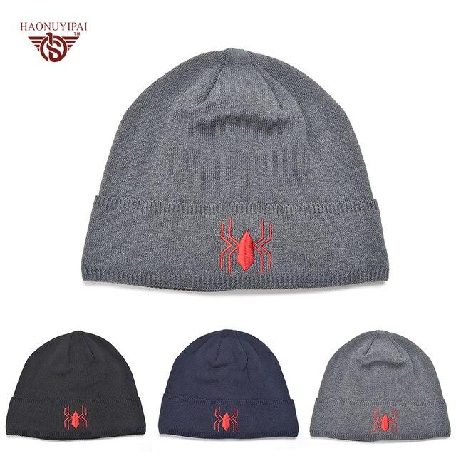 Invierno Para Hombre Skullies Gorros Bordados de Punto Tela Cómoda  Sombreros Adultos Casual Sport Caps Logo 40a55d25009