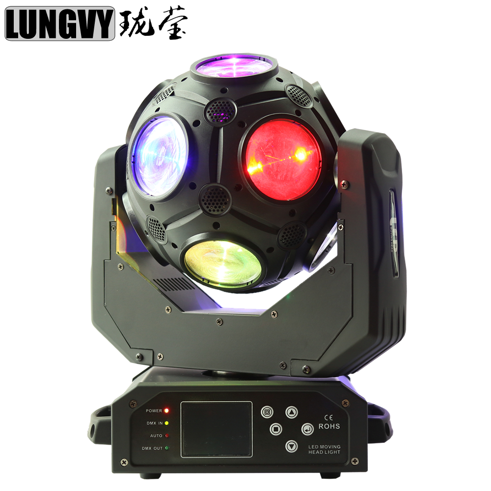 Free Shipping 12x20w RGBW 4IN1 LED Football Moving Head Beam Light Led Dj Disco Stage Ball Light For Dj Party ...