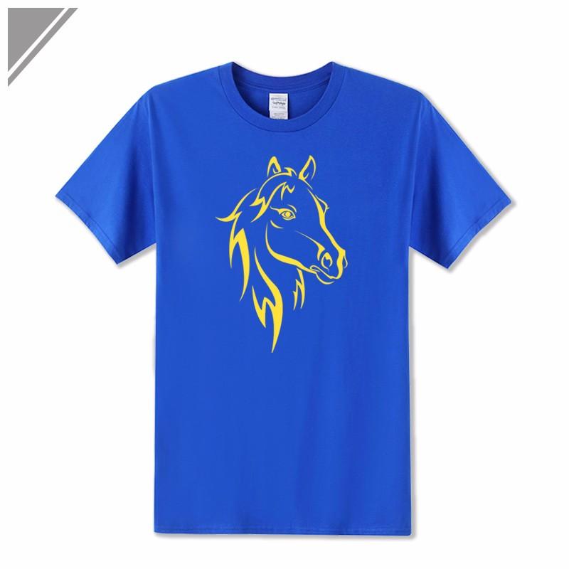 KOLVONANIG 2018 Fashion T Shirt Men Short Sleeve O-neck Cotton Hip Hop Mens Tee Shirts Animal Horse Printed T-Shirts Tshirts Top 8