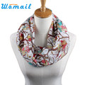 Newly Design Women Ladies Owl Cartoon Print Scarf Warm Wrap Shawl O Neck Rings 160405 Drop Shipping Womail