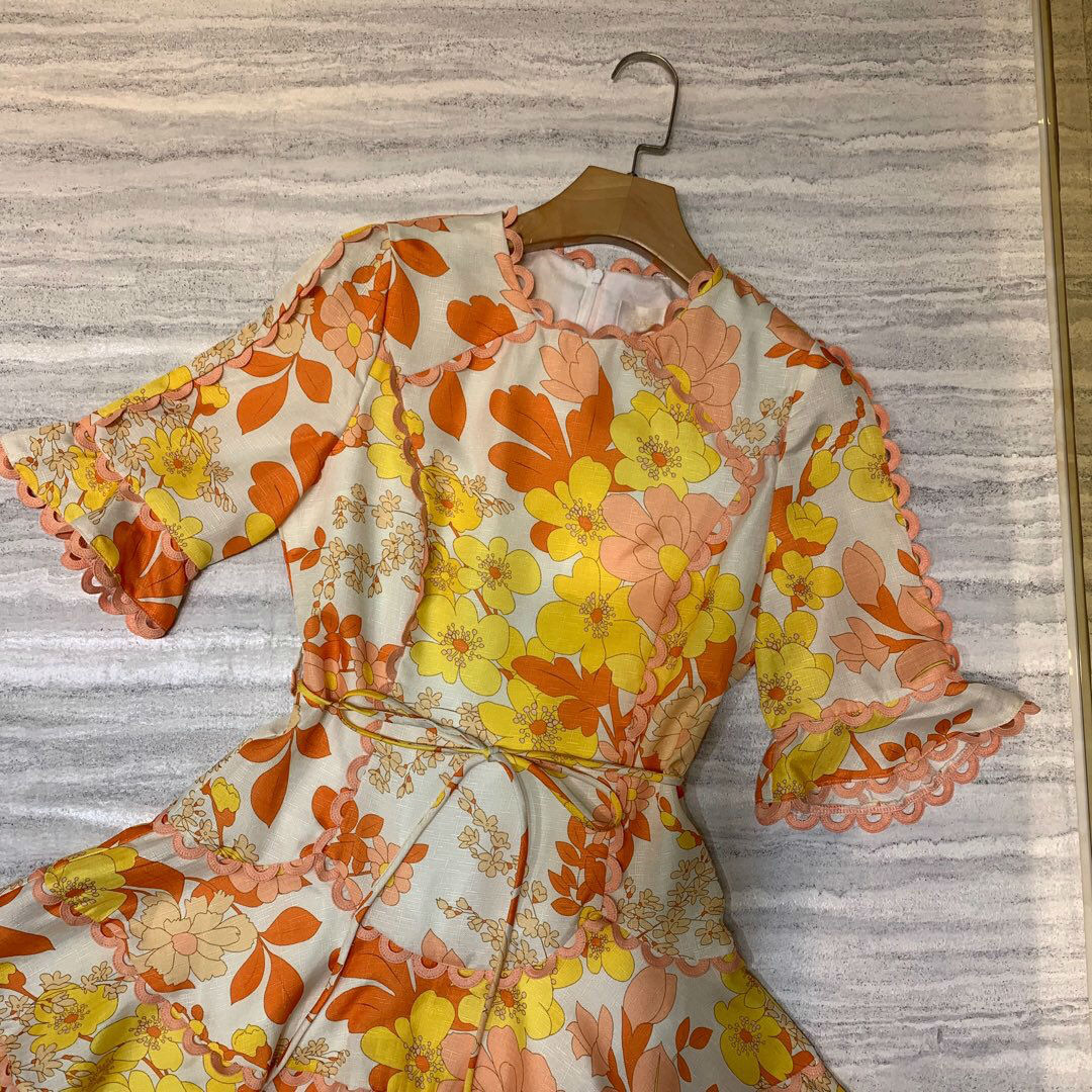 2019 새로운 빈티지 코 튼 인쇄 드레스 여성 freeshipping-에서드레스부터 여성 의류 의  그룹 3