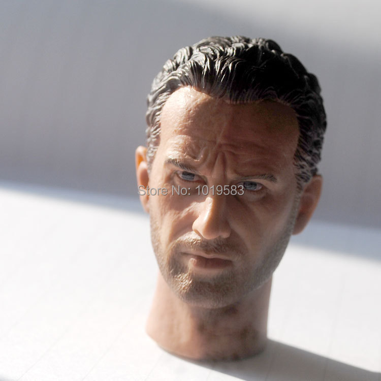 Brand New The Walking Dead Rick Grimes 1/6 Scale Head Sculpt 12'' Action Figure Model Toy Accessories For Gift/Kids