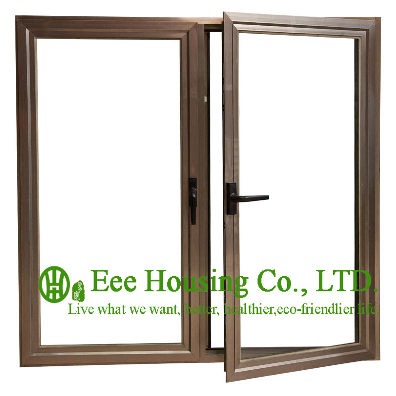 Anodized aluminum casement windows with wood color for Best price wood windows