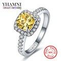 92% OFF!!! belas Jóias 100% Sólidos Anéis de Prata Para As Mulheres De Luxo 3 Quilates Amarelo CZ Diamante Anéis de Noivado Atacado BKJZ032