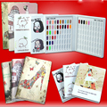 PU Leather 120Colors Nail Art Polish Salon Color Card Chart Book Nail Gel Colors Display Box with false nail