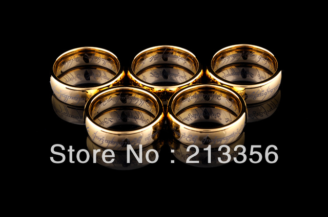 E&C JEWELRY Free Shipping! Wholesales Price! USA Hot Selling NICE New Golden Classic His OR  Her Tungsten Wedding The LOTR Rings