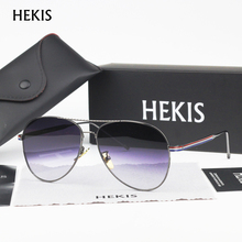 HEKIS Brand Mens Sunglasses Gradient lens Driving Sun glasses Eyewear Accessories For Men Oculos De Sol Masculino B2746