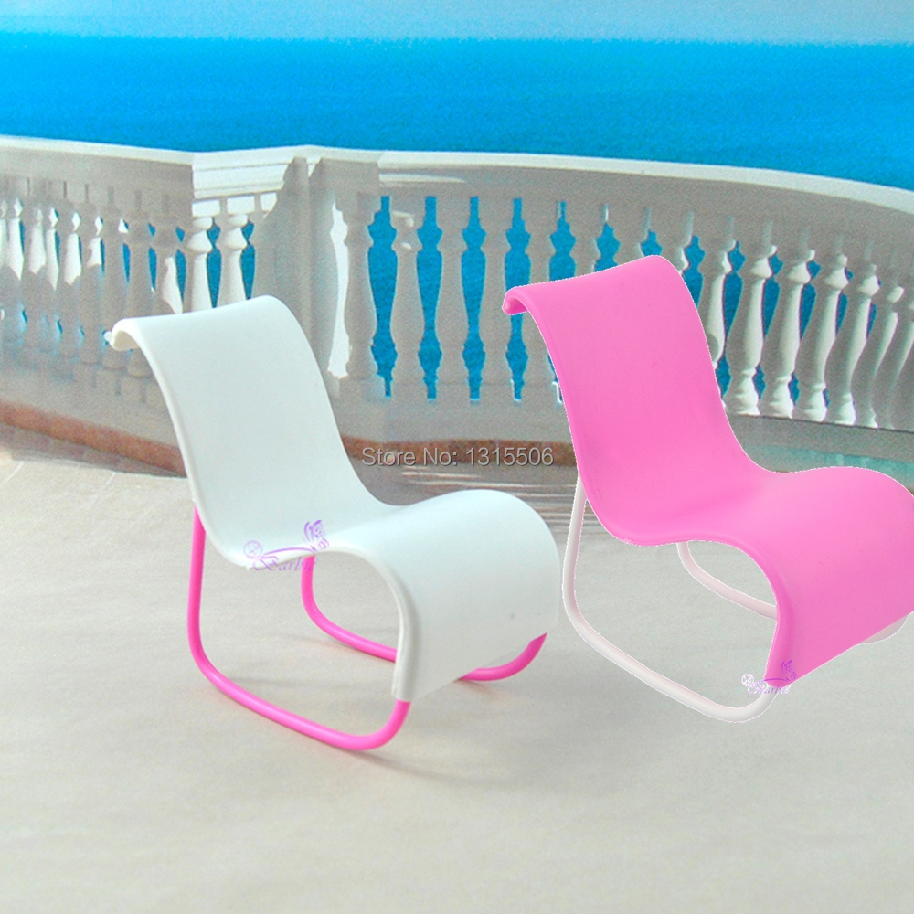 Plastic beach chair - E Ting Plastic Chairs Wholesale Cute Beach Chair Deck Chair For Barbie Dolls Funiture Accessories Plastic Chairs In Dolls Accessories From Toys Hobbies On