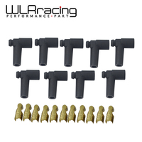 WLR RACING   9 pcs / set Universal Hei Style Distributor End Spark Plug Wire Rubber Boots & Stainless Steel Ends WLR SSC02|Ignition Coil| |  -