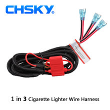 CHSKY High Quality Wiring Harness Suitable for Car USB Charger Adapter & Car Cigarette Lighter Power Socket Easy to installation(China)