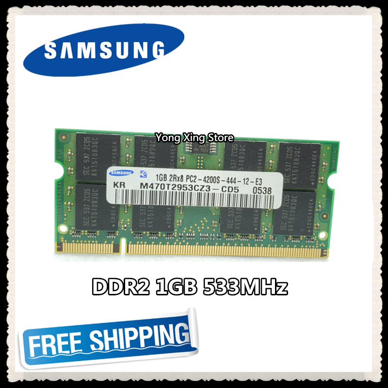 NEW 1GB DDR2 2RX8 PC2-4200S 533mhz 200pin SODIMM RAM Laptop Memory Notebook ram
