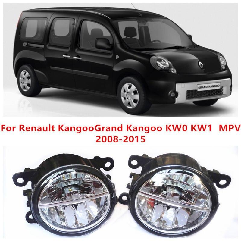 ФОТО For Renault KangooGrand Kangoo KW0 KW1  MPV  2008-2015 Fog Lamps LED Car Styling 10W Yellow White 2016 new lights