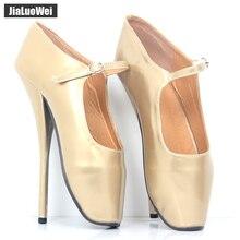 8 Sexy Ballet Heels Pumps Shoes High Heel Ballet Dancer Pointe Shoes 6-14 NEW цена