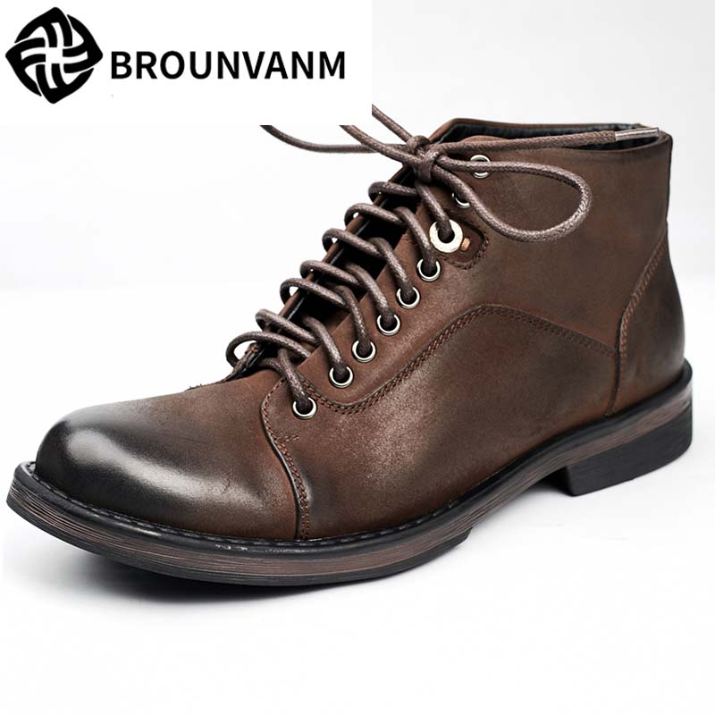 17 British men's casual fashion boots Martin boots boots boots leather fashion Chelsea short canister boots trendsetter martin new winter with thick british style short canister female fall side zipper boots