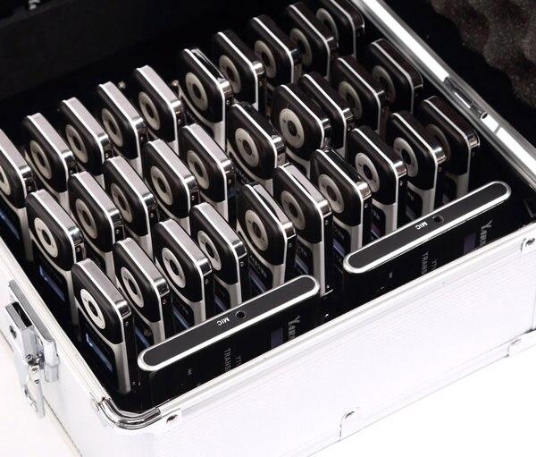 1 чехол зарядка + 4 датчики + 60 приемники Yarmee полный комплект беспроводной аудио гид система для путешествий и музей