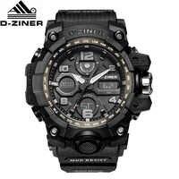 D-ZINER G Style choc montres hommes militaires hommes montre LED numérique sport montre-bracelet analogique Quartz montres homme cadeau montre homme