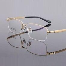 ultra light Pure titanium male spectacle frames eyewear width-155 Big face business man myopia half-rim eyeglasses