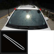 цена на lsrtw2017 stainless steel car front window trims for bmw 2 series Active Tourer F45 2015 2016 2017 2018 2019 218i