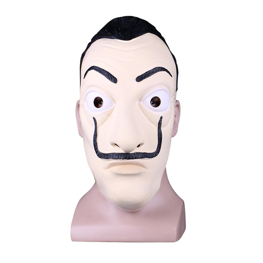 Money Heist The House of Paper La Casa De Papel Mask Latex Men Women Salvador Dali Mask Halloween Carnival Christmas dali Mask