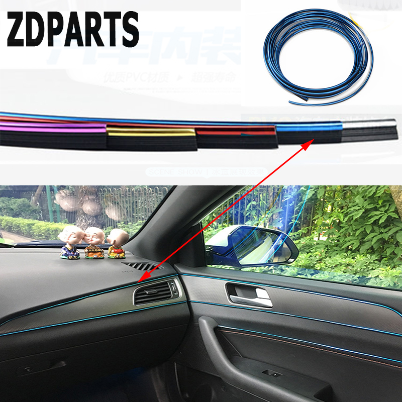 ZDPARTS 5M Automobiles Car Styling Interior Decoration Strip For Volkswagen VW Golf 4 5 7 6 MK4 Honda Civic 2006-2011 Accord